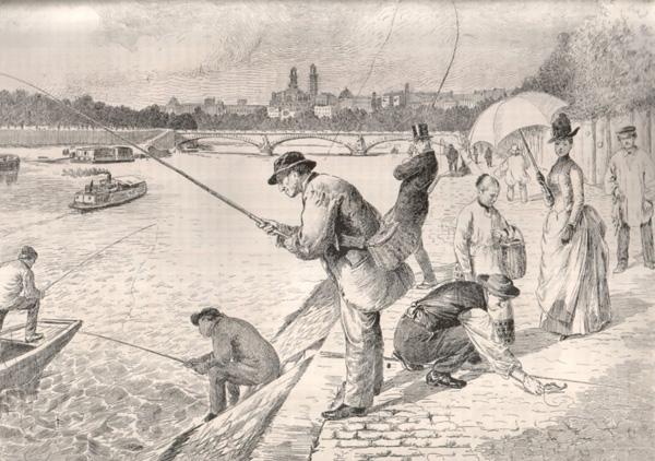 Sur la pêche et le pêcheur les vers prikolnye de