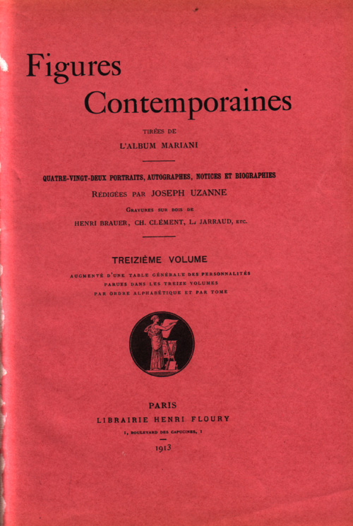 Figures contemporaines de Mariani